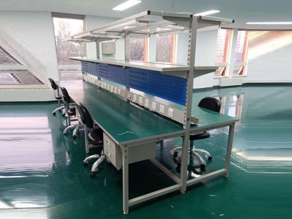 北京复合台面带台面工作台,灯架挂板工